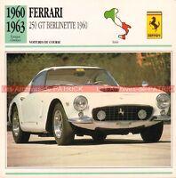 FERRARI 250 GT Berlinette 1960-1963 : Fiche Auto Collection