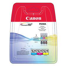 Canon CLI-521 Multipack cyan magenta gelb original Tintenpatronen 9ml