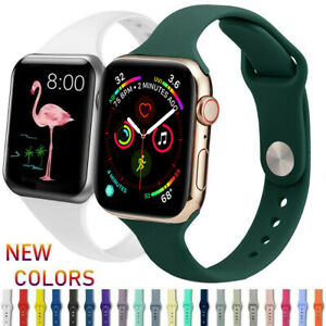 For Apple Watch 5/4/3/2/1 Slim Band 44mm 40mm 38mm 42mm Wristband Strap Bracelet
