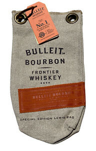 Bulleit Bourbon Frontier Whiskey Special Edition Lewis Burlap Ice Bag Magnet NWT