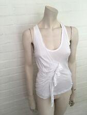 ROBERTO CAVALLI White Cotton Tank Top T shirt  Size I 38 UK 6 US 2 XS