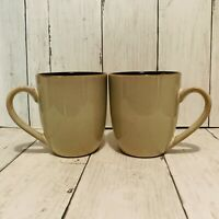Pfaltzgraff SANIBEL 12 oz Mug s 4 1/8 Tan Brown Set Of Two