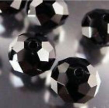 5x8mm Black Crystal Loose Bead 70pc