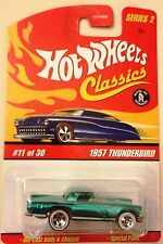 HOT WHEELS CLASSICS 1957 THUNDERBIRD#11 OF 30 METALLIC GREEN SERIES 2 - 2005