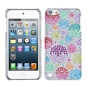 for iPod Touch 5th / 6th / 7th Gen - Colorful Bubbles Hard Diamond Bling Case