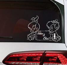 Sohn und Tochter Baby on Board Aufkleber Kinder Kids Sticker Wunschname tattoo