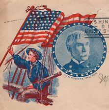 Spanish American War Commodore Watson Flag Soldier Color Washington 1898 6h