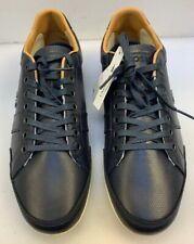 Lacoste Men 8 M Alisos 16 Sneakers Dark Blue Leather Lace Up NIB New $145