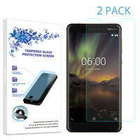 2-Pack For Nokia 6.1 Tempered Glass Screen Protector