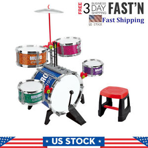 Toddlers Jazz Drum Set Musical Toy Perccussion Instrument Kit Gift for Kids