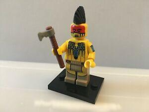 LEGO Série 10 - Figurine Guerrier Indien avec sa hache - Authentique Lego