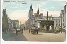 Scotland - Aberdeen, Municipal Buildings & Market Cross - 1900's postcard