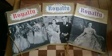 3 x ROYALTY ILLUSTRATED MAGAZINE Circa 1940s Issue 1 2 + 3 Golden Cord Souvenirs