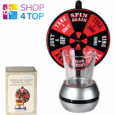 DRINKING GAME WHEEL OF SHOTS SPIN ADULT PARTY 1 SHOT SHOOTER GLASS NEW