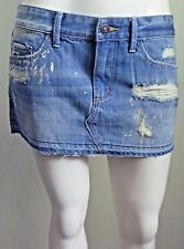 Abercrombie & Fitch Women Natasha Destroyed Denim Mini Skirt NwT 25 0 XS