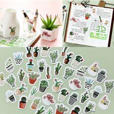 45Pcs/Set DIY Pot Cultured Green Plants Label Sticker Diary Album Craft Stickers