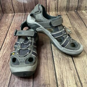 Teva Gray Spider Rubber Trail Water Hiking Sandals Men's Size 10.5 Shoes 6148