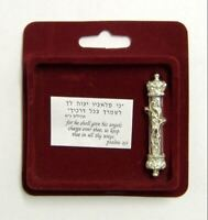 Mezuzah per l'auto di argento 925 arte ebraica Kabbala souvenir portafortuna