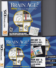 BRAIN AGE 2 game complete with Manual for NINTENDO DS