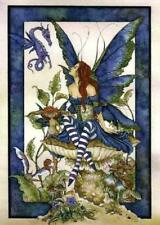 Amy Brown Bottom of The Garden fairy Greetings Card Tree Free artist print