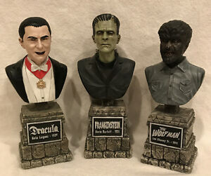 SIDESHOW UNIVERSAL MONSTERS the legacy collection bust statue Dracula Wolf Man