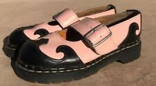 TUK Tredair Maryjane Steampunk Shoes Size 7 Made In England Pink Black