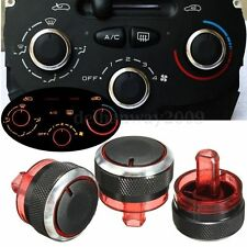 PEUGEOT 206 207 HEATER AIR CON CONTROL KNOBS UPGRADE IN BLACK/CHROME