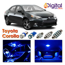 6x Blue Interior LED Lights Package Kit for 2003 - 2015 2016 2017 Toyota Corolla