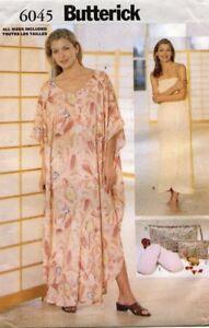 Butterick Misses' Caftan,Wrap,Slipper, Bag Pattern 6045 Size XS-XL UNCUT