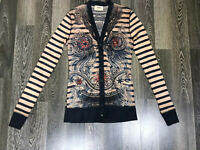 Jean Paul Gaultier for Lindex Nude Tattoo Pattern Cardigan Shirt size S