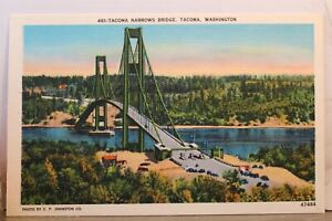 Washington WA Tacoma Narrows Bridge Postcard Old Vintage Card View Standard Post