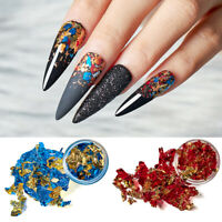 8X/SET Nail Art Glitter Foil Tips Acrylic UV Gel Shimmer Sequins Flakes Nails
