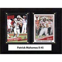 "NCAA 6""X8"" Patrick Mahomes II Texas Tech Red Raiders Two Card Plaque"