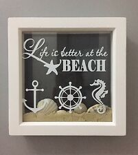 Life Is Better At The Beach Nautical Decal vinyl sticker Ikea Box Ribba Frame