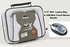 "Dicota Base XX 11.6"" Laptop Bag Netbook Tablet Carry Case + Mini USB Mouse White"