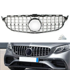 New listing Front Upper Grille Grill AMG GTR Style Fit Benz C Class W205 2015-2018 Chrome
