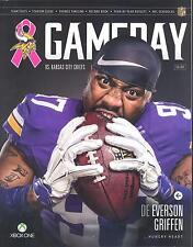 Minnesota Vikings Kansas City Chiefs 10/18/15 GameDay Program Everson Griffen