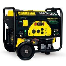 100122R - Champion 3500/4000w Dual Fuel Generator, electric start - REFURBISHED