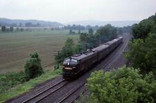 Conrail E8A # 4021 Office Car Special @ Chemung, NY 6/12/1987