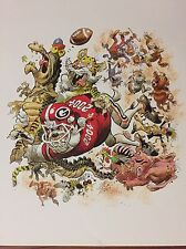 Georgia Bulldogs Football 2004 Jack Davis artwork print UGA Dawgs David Greene
