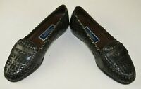Bragano By Cole Haan Men's Quilted Penny Loafers Size 8 M Leather Black Casual