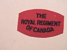INSIGNE BADGE COMMONWEALTH  THE ROYAL REGIMENT OF CANADA