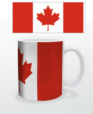 CANADA 11 OZ COFFEE MUG CUP FLAG OTTAWA TORONTO MONTREAL VANCOUVER DEMOCRAC
