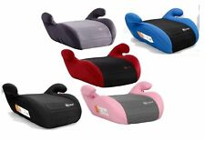 MyChild Button Booster Children's Car Seat - Black, Red, Pink, Blue, Solid Black