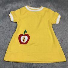 Vintage Toddler Girls Florence Eiseman Yellow Apple Dress Top 737172765