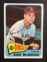 Ken McBride Angels Signed 1965 Topps Baseball Card #268 Auto Autograph 1