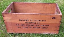 Antique Vintage Advertising Wood Crate The New England Box Company