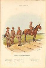 1900 Richard SIMKIN stampa militare, 152 tipi di Vittoriano reggimenti