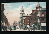 Worcestershire Worcs WORCESTER The Cross 1906 street scene PPC by Valentine