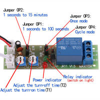 1pc DC5/12/24V Adjustable Trigger Cycle Timer Delay On/Off Switch Relay Module x
